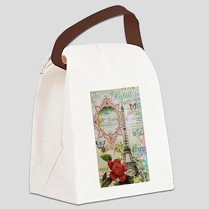 Paris Journal Canvas Lunch Bag