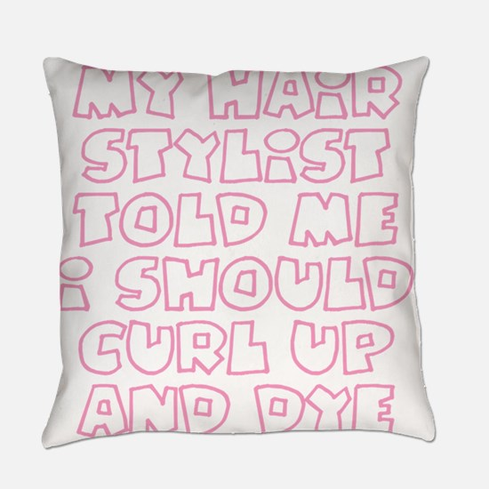 Cute Curlers Everyday Pillow