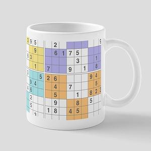 pastel sudoku Mugs