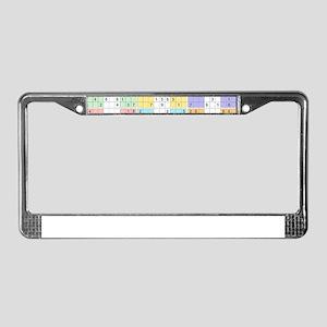 pastel sudoku License Plate Frame