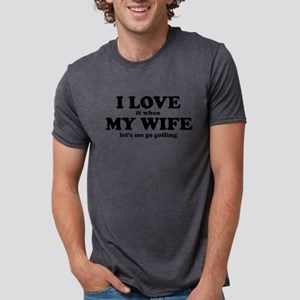 0144b0c1 I Love It When My Wife Lets Me Play Video Games Men's Tri-Blend T ...
