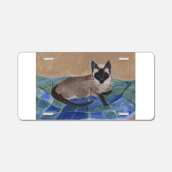 Siamese Napping Aluminum License Plate