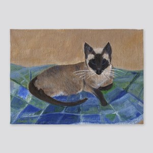 Siamese Napping 5'x7'Area Rug
