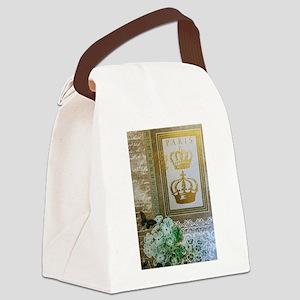 Golden Paris Canvas Lunch Bag