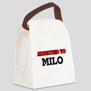 Addicted to Milo Canvas Lunch Bag