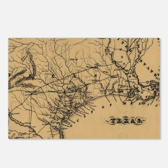 Cute Texas map Postcards (Package of 8)