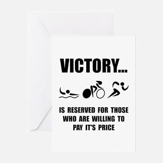 Victory Triathlon Greeting Cards