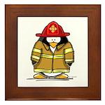 Fire Rescue Penguin Framed Tile