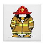 Fire Rescue Penguin Tile Coaster