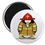 Fire Rescue Penguin Magnet