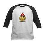Fire Rescue Penguin Kids Baseball Jersey