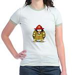 Fire Rescue Penguin Jr. Ringer T-Shirt