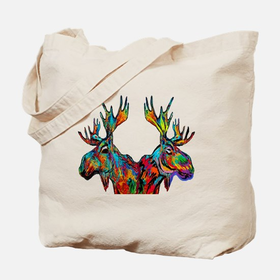 Cute Moose camping Tote Bag