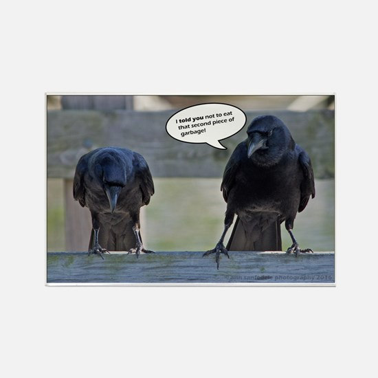 Cute Crows Rectangle Magnet