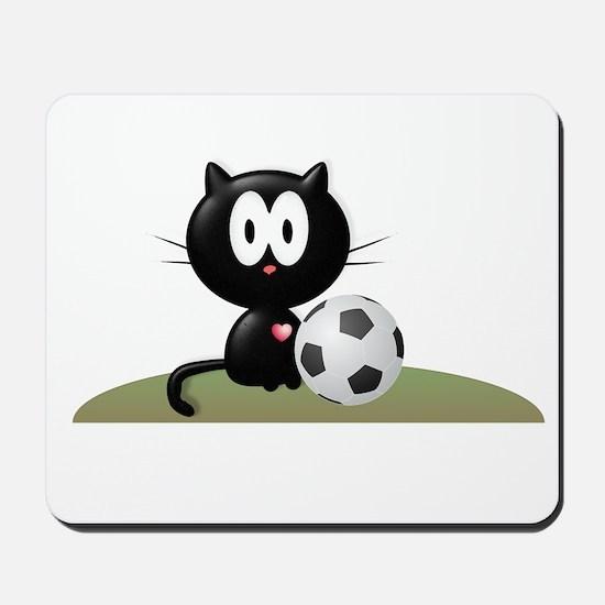 Soccer Kitty Mousepad