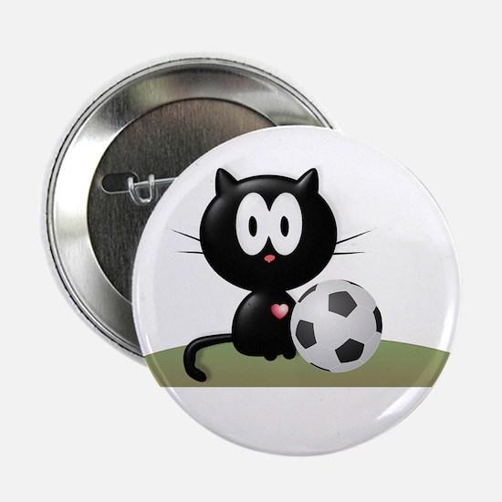 "Soccer Kitty 2.25"" Button"