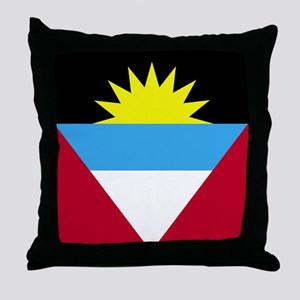 Flag of Antigua and Barbuda Throw Pillow