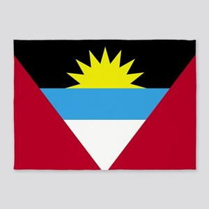 Flag of Antigua and Barbuda 5'x7'Area Rug