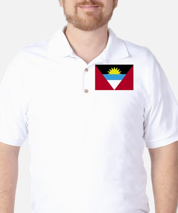 Flag of Antigua and Barbuda Golf Shirt
