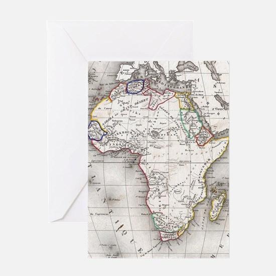 Unique Africa Greeting Card