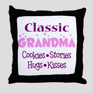 Classic Grandma Throw Pillow