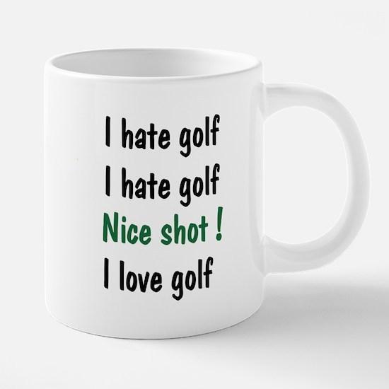 I Hate/Love Golf Mugs
