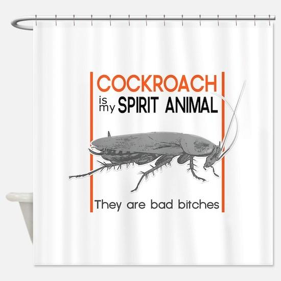 Cockroach Spirit Animal Shower Curtain