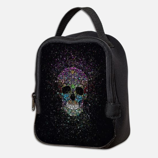 Glitter ColorSkull Neoprene Lunch Bag
