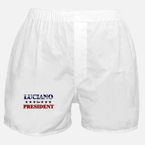 LUCIANO for president Boxer Shorts