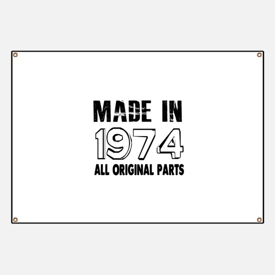 Made In 1974 Banner