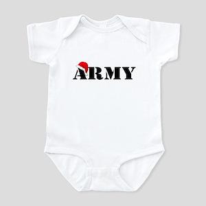 Army Santa Christmas Infant Bodysuit