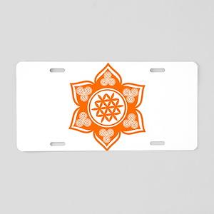 Triple Goddess Lotus Love 04 Aluminum License Plat