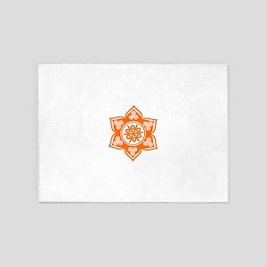 Triple Goddess Lotus Love 04 5'x7'Area Rug