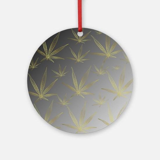 Cute Cannabis Round Ornament