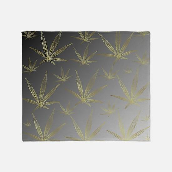 Cute Cannabis Throw Blanket