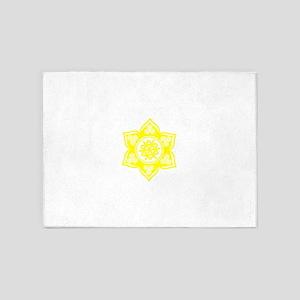 Triple Goddess Lotus Love 05 5'x7'Area Rug