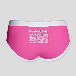 Don't Hit Kids Women's Boy Brief