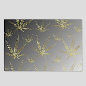 silver,cannabis leaf a de Postcards (Package of 8)