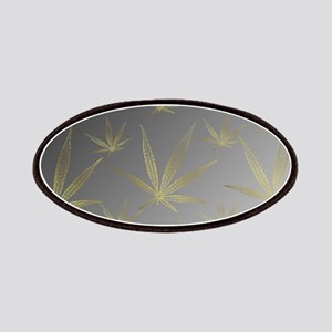 silver,cannabis leaf a delicate silhouette d Patch