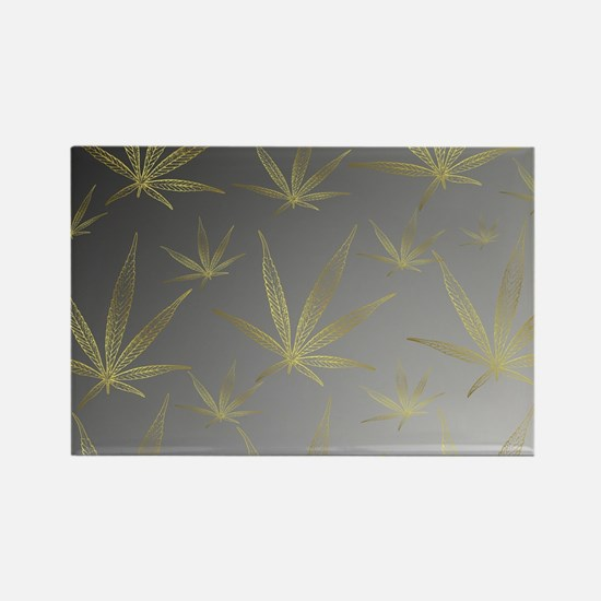 silver,cannabis leaf a delicate silhouette Magnets