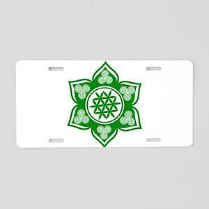 Triple Goddess Lotus Love Green Aluminum License P