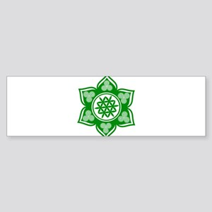 Triple Goddess Lotus Love Green Bumper Sticker
