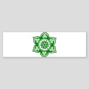 Triple Goddess Lotus Love Green Bumper Sticker