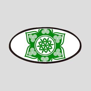 Triple Goddess Lotus Love Green Patch