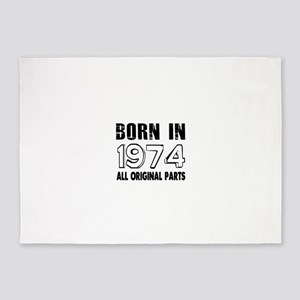 Born In 1974 5'x7'Area Rug
