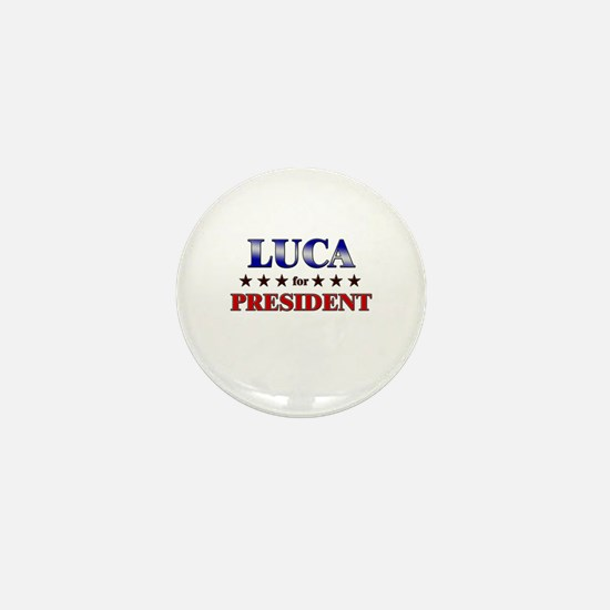 LUCA for president Mini Button