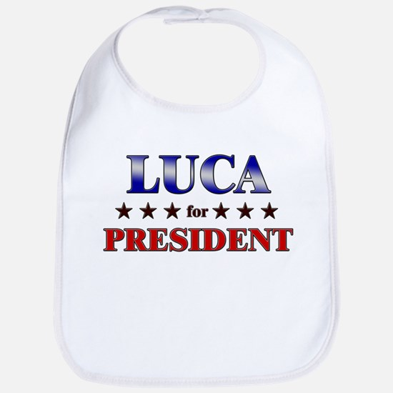 LUCA for president Bib