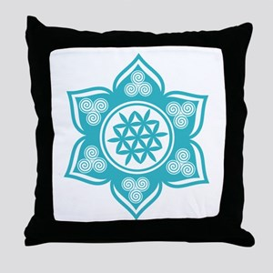 Triple Goddess Lotus Love 10 Throw Pillow