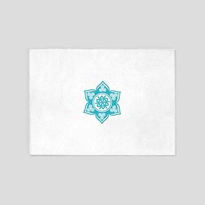 Triple Goddess Lotus Love 10 5'x7'Area Rug