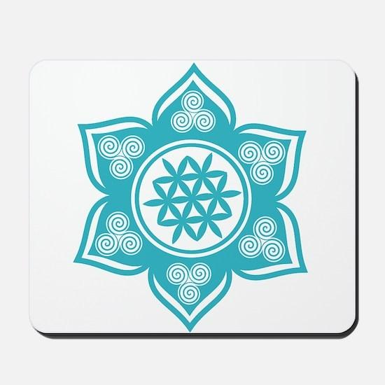 Triple Goddess Lotus Love 10 Mousepad